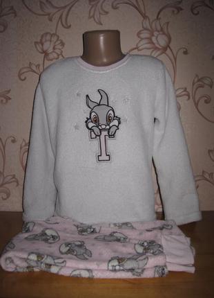 Пижамка для девочки, махра. на 7-8 лет. в хорошем состоянии!!! disnep.