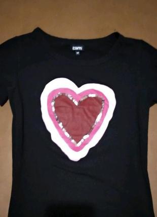 Женская футболка с принтом сердце