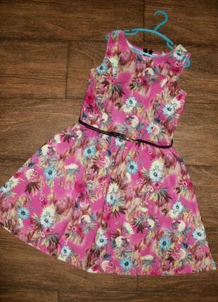 Платье в цветы yd