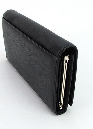 278c39f4cc8c Кошелек кожаный на кнопке женский черный, цена - 960 грн, #14169243 ...