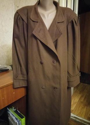 Коричневое шерстяное пальто 22/24.распродажа.