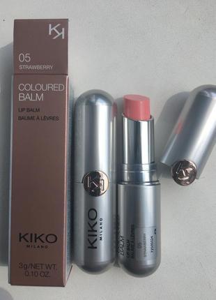 Цветной бальзам для губ kiko milano италия