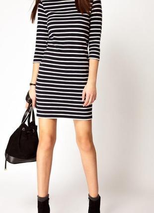 Комфортное платье friendtex в полоску