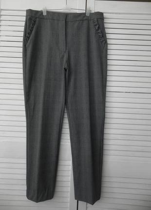 👏обновы 👏трендовые невероятные брюки с оборками zara basic(см.замеры)
