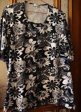 Натуральная футболка-туника (котон и эластин )