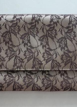 Стильный клатч сумка конверт кружево