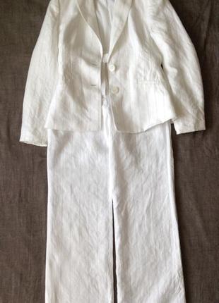 Льняной костюм оверсайз в полосочку. s-m(пог-48). лён 100%