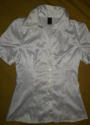 Блузочка - рубашка атлас-стрейч размер s