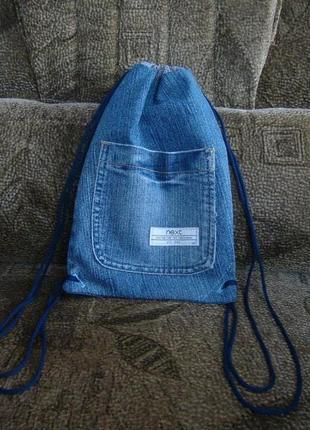Джинсовый мини рюкзачок next с карманчиками