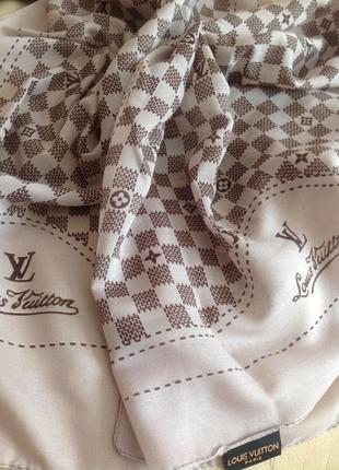Vip коттоновый шарф палантин louis vuitton – 169х47 см