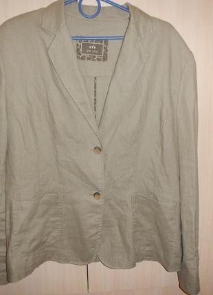 Льняной пиджак per una р.18 жакет