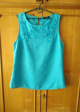 Блуза 100% лен, бренд moda at george, р.16