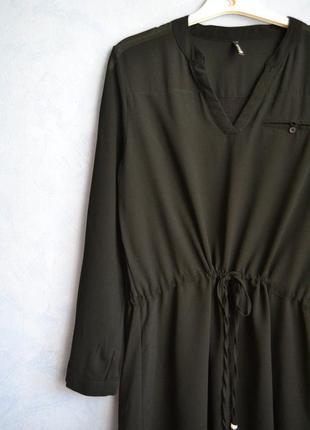 Шифоновое платье рубашка на завязках