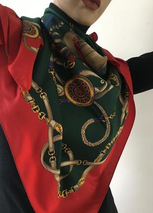 Итальянский шелковый платок шарф палантин  италия  #