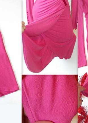 Шикарное розовое платье миди вечернее4