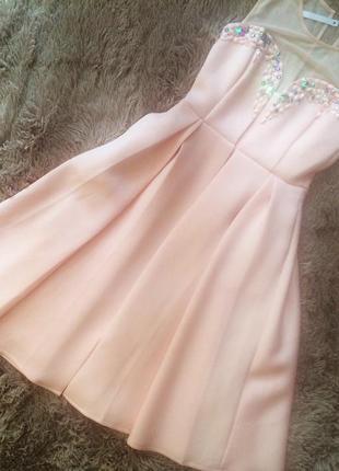 Платье миди  asos , новое, нежного розового цвета