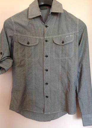 Спортивная стильная котоновая рубашка. /s/ brend rags