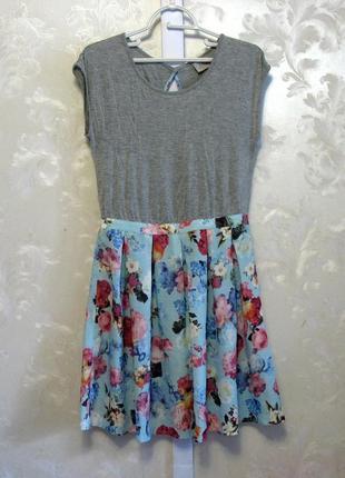 Платье с цветочной юбкой с открытой спиной instant vintage