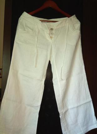 Літні білі штани льон