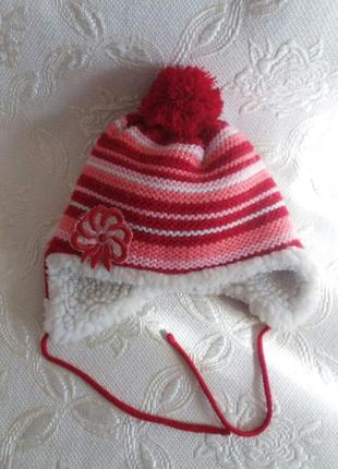 Зимняя шапка на овчинке