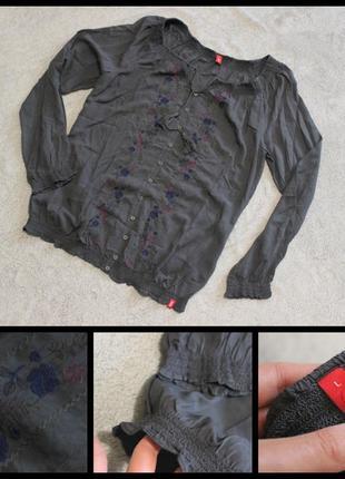 Edc.легкая блуза с вышивкой.