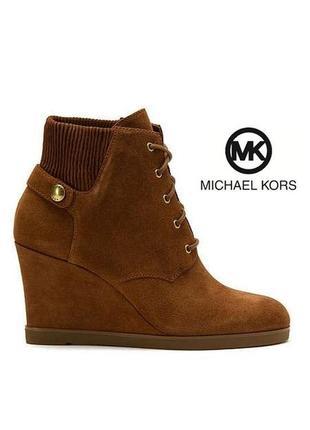 Michael kors оригинал замшевые ботильоны ботинки на танкетке бренд из сша