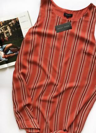 Подовжена блуза майка туника большой размер 18 /46 xxxl кофта стильная блузка в полоску