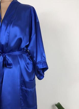 Красивий атласний халат пенюар нижнее белье украина