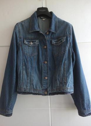 Стильная джинсовая куртка  marks & spencer , большой размер