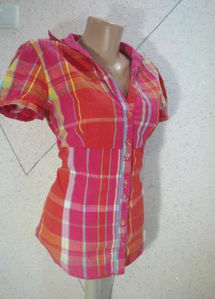 Рубашка с коротким рукавом в клеточку
