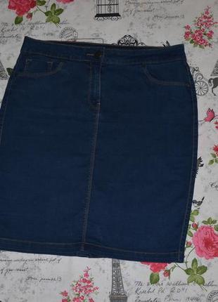 Актуальная джинсовая стрейчевая юбка george 12 размер