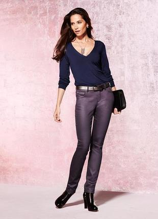Модные джинсы с блеском «slim fit» р.42,44,46,48,50,52 от тсм tchibo германия