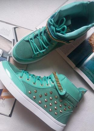 Натуральная замша cтильные кроссовки / сникерсы glitz&glam, размер 38, 39, 40