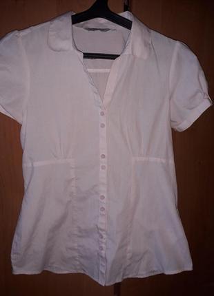 Симпатичная легкая блуза рубашка peacocks