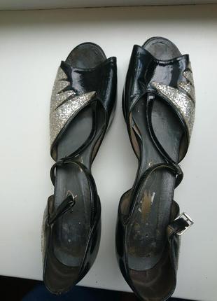 Туфли для танцев кожа р-р38(39)/25см (код 151)