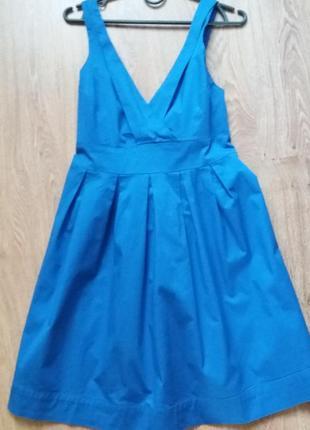 Синее платье  сарафан