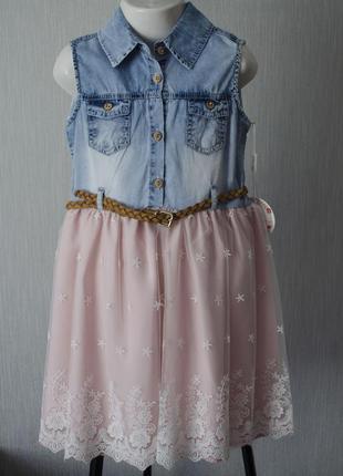 Оригінальне плаття з поясом\ковбойське плаття\святкова сукня