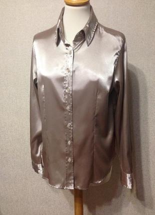 Блуза-рубашка жен. gina benotti,атлас,р.l