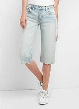 Gap, укороченные джинсы ,high rise super crop jeans, 30 размер, наш 46-48