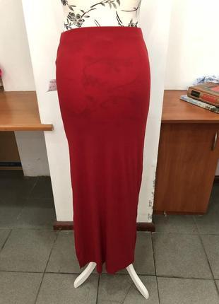 Красная макси юбка forever21