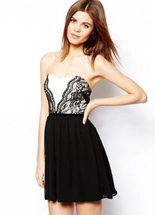 Аккуратное платье мини с кружевом от asos