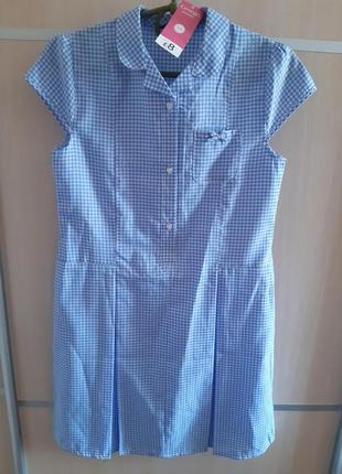 Летнее платье в сине-белую клетку   george р.152 -158
