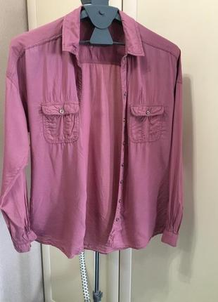 Нежно розовая рубашка pull&bear