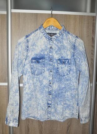 Джинсова рубашка хс