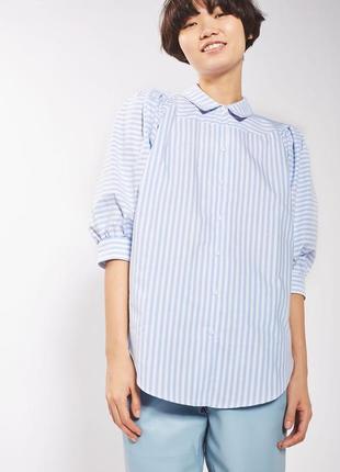 Стильная рубашка с принтом в полоску