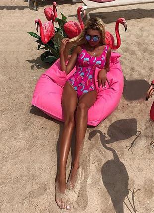 Новинка! купальник с фламинго . крутой купальник. молодежный купальник