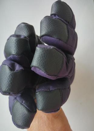 Перчатки на флисе утеплённые рукавицы варежки с манжетами