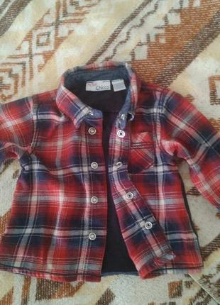 Сорочка,рубашка chicco р.56