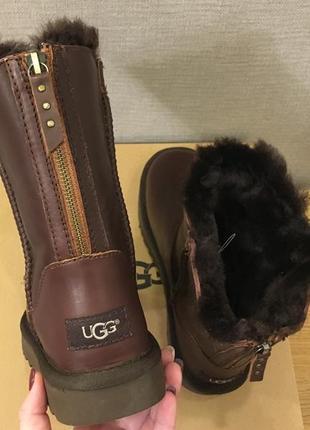 Летняя супер-цена!!!ugg australia zipper  short кожанные угги на натуральной овчине 36-40