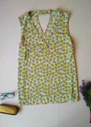 Нежная блуза маечка с цветочным рисунком tu